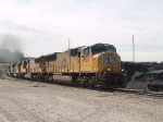 UP 4920 leads a WB work train at 10:14am