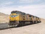 UP 8352 leads an EB manifest (QWCFW? West Colton - Fort Worth) at 11:10am