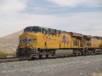 UP 7709 leads a WB doublestack at 2:00pm