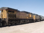 UP 6887 #2 power in an EB grain train at 11:32am