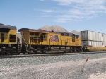UP 5305 #2 power in a WB doublestack IMQLA Mesquite - LA at 12:53pm