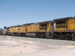 UP 9382 #3 power in an EB manifest MTUFW Tucson - Ft Worth at 1:10pm