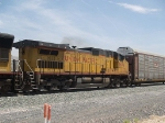 UP 9604 #2 power in a WB autorack/doublestack at 1:11pm