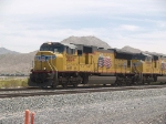UP 3834 leads a WB doublestack at 12:20pm