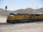 UP 7679 leads a WB doublestack at 11:46am