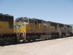 UP 5162 #2 power in an EB doublestack ILBNO Long Beach - New Orleans at 11:55am