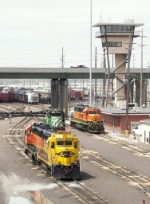 BNSF Locomotives in Argentine Yard