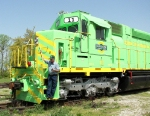 Terry Respondek and His Locomotive