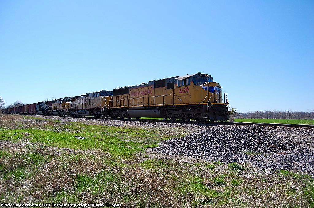 UP 4129, UP 9811, UP 3680, & SP 161