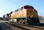 BNSF 7741 and NS 9443