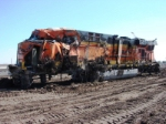 A full look at the damage sustained by BNSF 5942