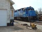 ELS 402 hiding behind the depot