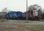 Four of ELS' seven operational road locomotives