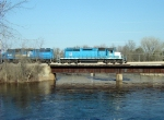 ELS 501 crossing the Oconto River