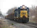 CSX 2246 leads D007 and its load of welded rail eastward