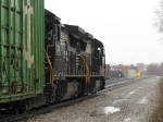 36E heads into a damp Hughart Yard