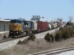 Q335-14 heads west with shorter than average train