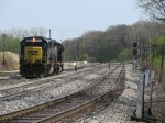 CSX 8721 & 8331 rolling out of Plaster Creek to pick up Q326 in the yard
