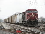 CP 9645 pulling down 2 track with X500-26