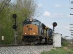 N900-22 rolls its way west through the Port Sheldon signals
