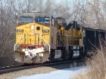 """UP """"Will County"""" coal train on the """"J"""" Plainfield Ill"""