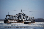 Ice, Eagles and a Swing Bridge