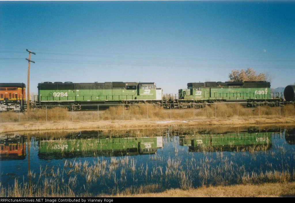BNSF train undergoing brake test.