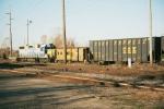 Parked CSX train