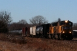 Union Pacific SD70Ms 4719 and 4106 lead an eastbound merchandise train.