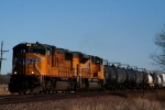 Union Pacific SD70M 4612 and SD70ACe 8353 lead a westbound merchandise train.