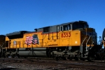 Here's a closeup of the rear unit, Union Pacific SD70ACe 8353.