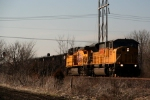Union Pacific SD9043AC 8215 and C44AC 5669 lead an eastbound coal drag.