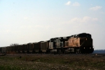 Union Pacific C44ACs 6590 and 6211 lead an eastbound coal drag
