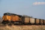 Union Pacific C44AC 6452 draws back engine duty on an eastbound coal run
