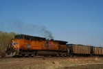 Union Pacific C44AC 5982 draws pusher duty on a eastbound coal run