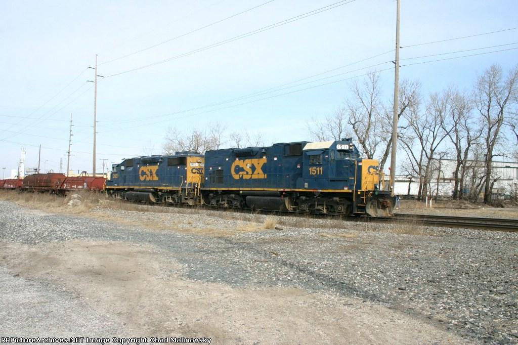 CSX 1511 going to Curtis Yard