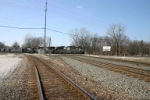NS 2716 heads east on the Porter Branch