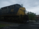 CSX 334 racing the storm!