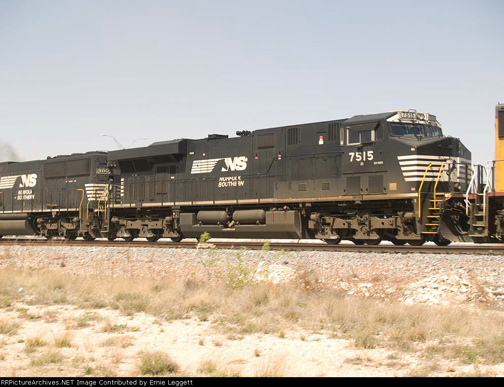 NS 7515 #2 power in an EB doublestack ZLCAI - LA - Shreveport - at 12:18pm
