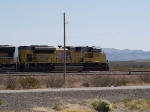 UP 8411 leads an EB doublestack at 10:04am