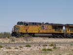 UP 5528 leads a WB doublestack at 1:30pm
