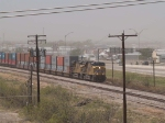 UP 5303 leads an EB doublestack ILBNS - Long Beach to Memphis - at 1:10pm