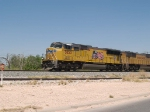 UP 3853 leads a WB doublestack ZMQLA (Mesquite, TX/Los Angeles) at 2:18pm