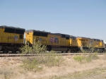 UP 5078 #2 power in a WB manifest MFWWC (Ft Worth - West Colton) at 4:10pm
