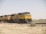 UP 8611 leads a WB doublestack ZMQLA - Mesquite TX - LA at 3:12pm
