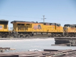 UP 7799 #2 power in a WB doublestack at 1:20pm