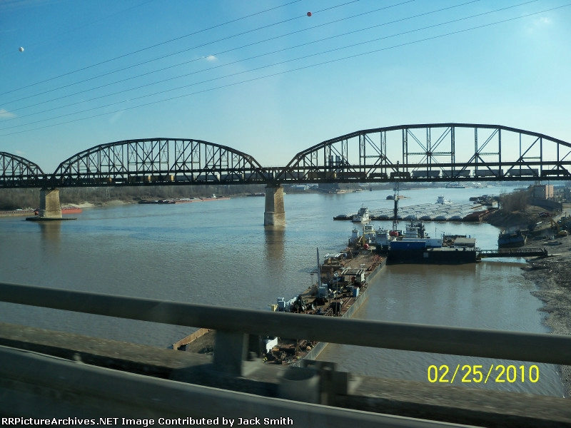 Crossing the Mississippi River - headed home from AZ.