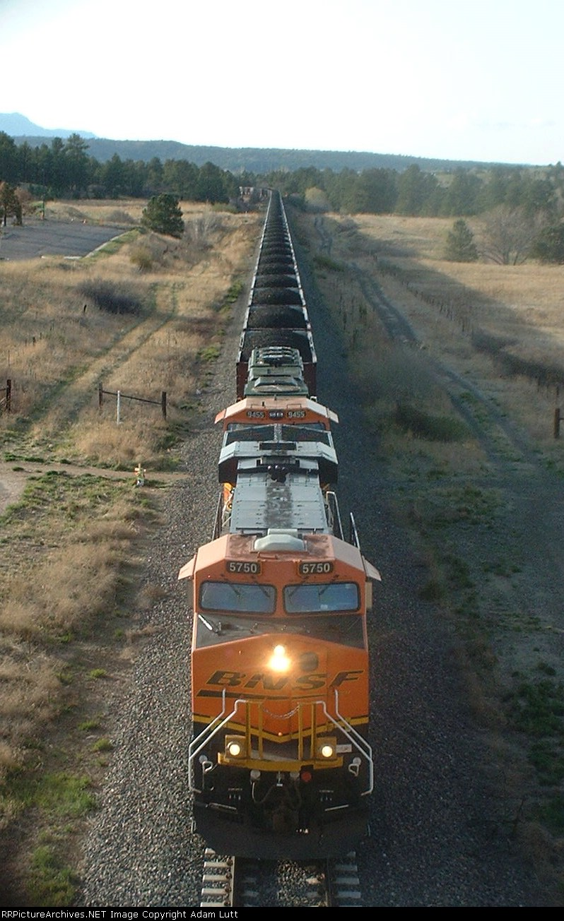 BNSF 5750 from above