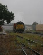 UP 1364 gets wet.
