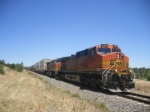 BNSF 4444 lead RARE Stack/TOFC re-route on the Joint line